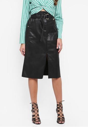 River Island black Pu Paperbagblack Skirt 806EBAAEA408FCGS_1