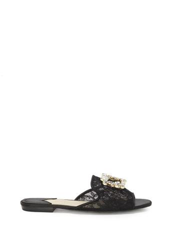 Enzo Angiolini black EN-MERILYN Embellished Pearl Slides 2E15FSH4205DC8GS_1