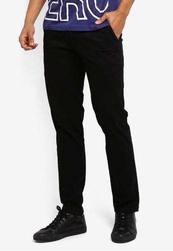 Marc & Giselle black Khakis Long Pants E9B29AAF58C384GS_1