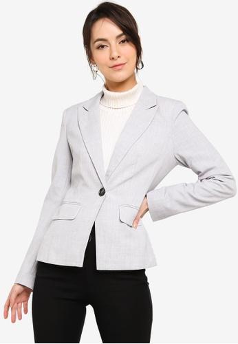FORCAST grey Mai Suit Jacket 0A5EBAA2C7F079GS_1
