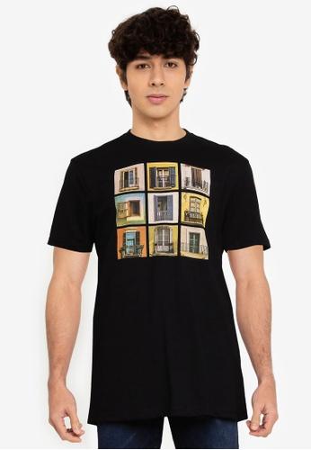 Springfield black Urban T-Shirt A2612AA085E984GS_1
