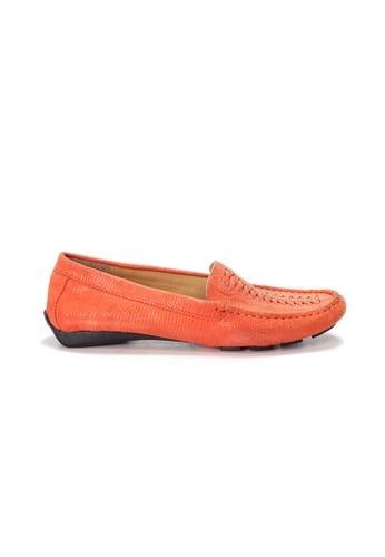 Shu Talk 橘色 AMAZTEP 大熱舒服真皮輕便鞋 05BFFSHA8B050BGS_1