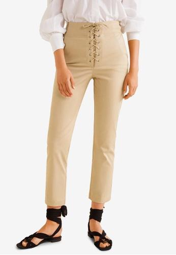 Mango beige Soft Cord Trousers 5AEB3AA44E381BGS_1