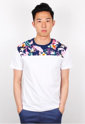 Moley white Floral Print T-Shirt MO329AA0FI53SG_1