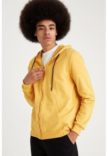 DeFacto yellow Man Knitted Cardigan 661D1AA81D7BDDGS_1