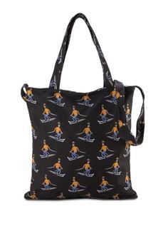 Skiing Print Fashion Tote Bag