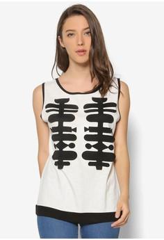 Sleeveless Knit T-Shirt