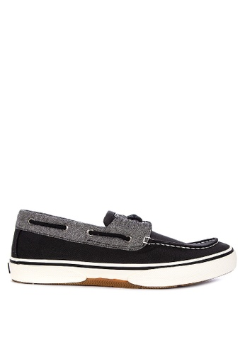 Sperry black Halyard 2-Eye Chambray Sneakers 0A170SHA3D9B1CGS_1