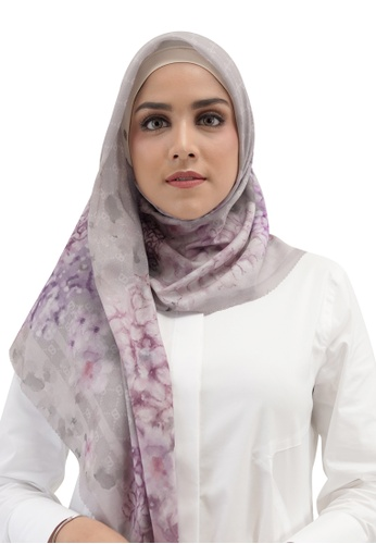 Buttonscarves 灰色 Buttonscarves Hydrangea Voile Square Clair 9B9A6AABAA1217GS_1