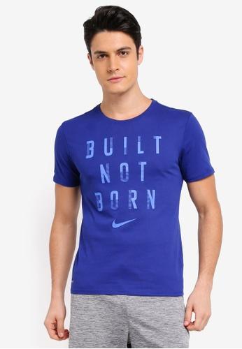 Nike blue Men's Nike Dry Training T-Shirt NI126AA0STWFMY_1
