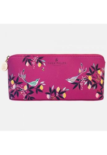 Sara Miller pink Sara Miler London -Mauve Orchard Birds Large Pencil Case (SAM2126) 16ED0HLAF7495EGS_1