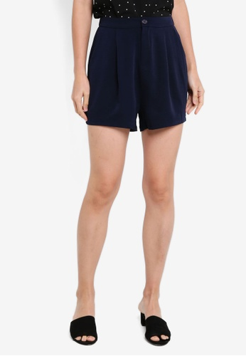 ZALORA BASICS navy Tailored Shorts 0C2F4AADC7041DGS_1