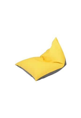 doob grey and yellow PLATOOPAT - dumpling-shaped doob bean bag lounger (Lemon Ash) 3DC84HLB25430DGS_1