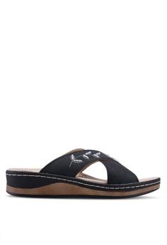 dad21a09f7c Noveni black Slide On Sandals 26822SH7402740GS 1