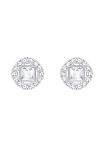 Swarovski silver Angelic Square Earrings 953CEAC7D9CFD1GS_1