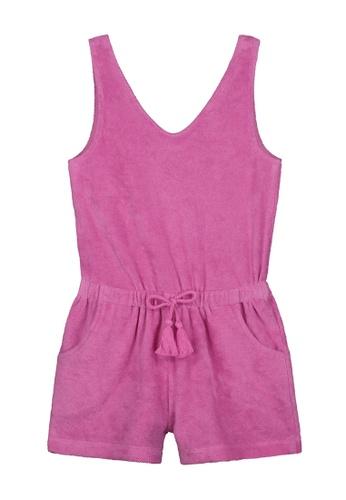Shiwi pink Terry Jumpsuit 18778KA61FAC90GS_1