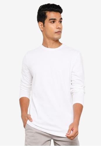 Springfield white Henley Long-Sleeved T-Shirt 4A78DAAF5DD38DGS_1