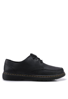 c51f595eae60e Dr. Martens black Hanneman 3 Eye Shoes 3C5EFSH336828BGS 1