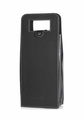 Crysalis black Premium Wine Accessories Wine Bag with Handle for 2 Bottle of Wine F49C0HL79566FDGS_1