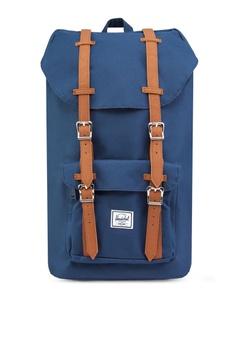 7613ffa9564 Herschel blue and navy Little America Backpack HE305AC56NDJSG 1