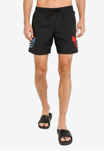 ADIDAS black tricolor swim shorts C06ADAAC3B8468GS_1