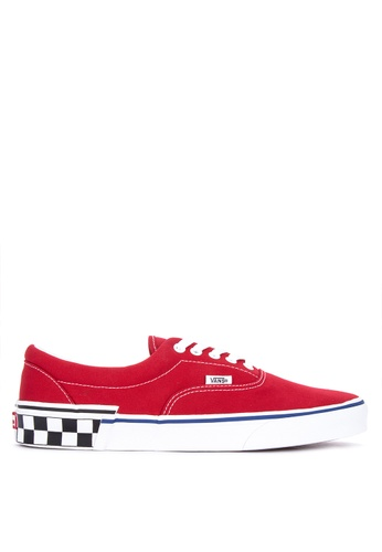 VANS red Check Block Era Sneakers 70D67SH551EADDGS_1