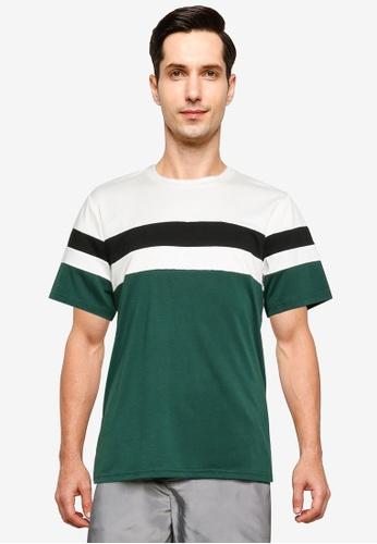 ZALORA BASICS multi Color Block T-Shirt C3BD7AA53C052FGS_1