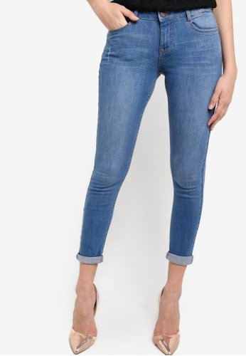Dorothy Perkins blue Midwash Blue Harper Jeans DO816AA77TXMMY_1