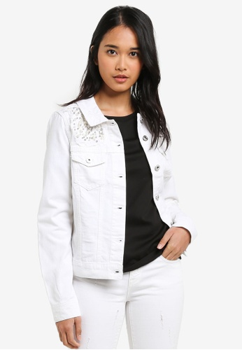 ONLY white Chloe Pearl Denim Jacket 4FF53AA6591CEEGS_1