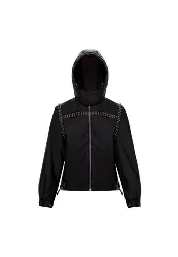 "Moncler black Moncler Genius 6 Noir Kei Ninomiya ""Bronze"" Jacket in Black F3263AA58D2DE9GS_1"