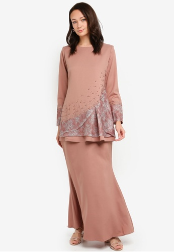 Baju Kurung with Lace from BYN in Brown