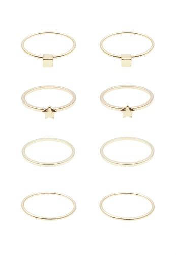 LUCCACAL 8 x Shashi Ring Set LU294AC0SDKVMY_1