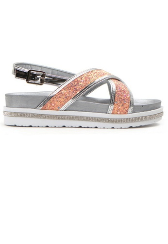 Crystal Korea Fashion pink Korean Summer Sequined Platform Sandals E9404SH0BEAFD1GS_1