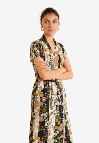 8bae3a5193 Mango white and multi Floral Vintage Dress 5F7D6AA7D37E94GS 1