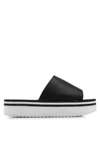 Rubi black Havana Flatform Sandals 1EE98SH04F7460GS_1