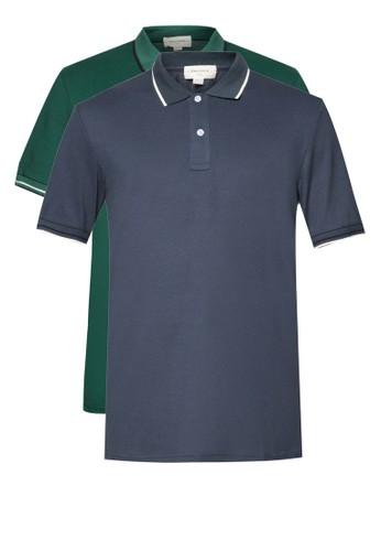 二入基本款滾邊POLO 衫, 服飾zalora 台灣, Polo衫