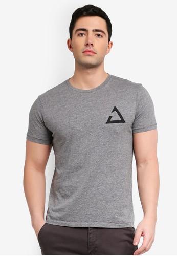 OVS grey Trend T-Shirt With Print 195B7AA18DBC65GS_1