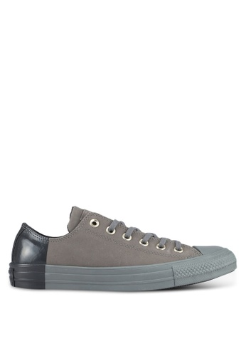a0235b4a27fc Converse grey Chuck Taylor All Star Ox Sneakers DC6A9SHF338B37GS 1
