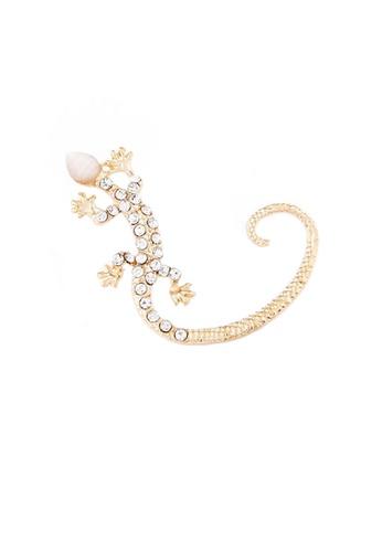 Urban Outlier gold Gecko Shape One Side Earring D448BAC149769FGS_1