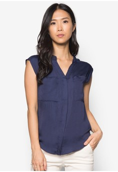 Collection V-Neck Blouse With Pockets