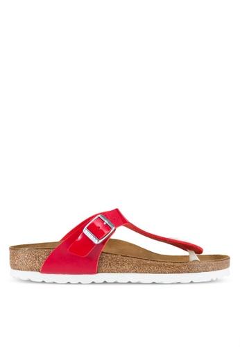 Birkenstock red Gizeh Sandals BI090SH73JQGMY_1