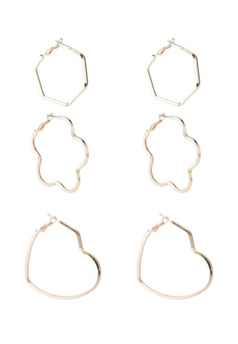 ONLY gold Sanna 3-Pack Earrings 8D0AFAC23DABF6GS_1
