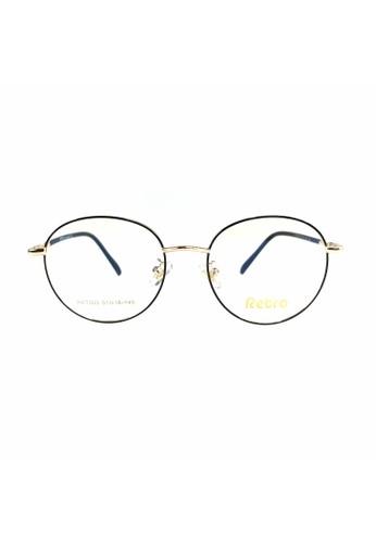 Ibrillen Optical gold RETRO RET003 Kacamata Bulat Korean Style - Black Gold 4C5B3GL02538AFGS_1
