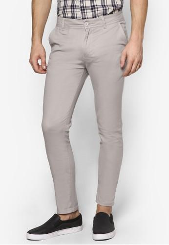 簡約休閒窄管長褲, 服飾, 長esprit hk outlet褲