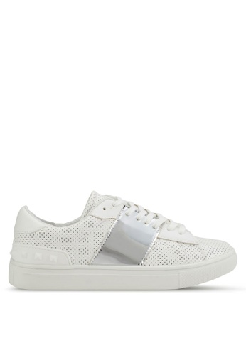 addicts anonymous white Maya Metallic Strap Trendy Sneakers AD479SH92MHVMY_1