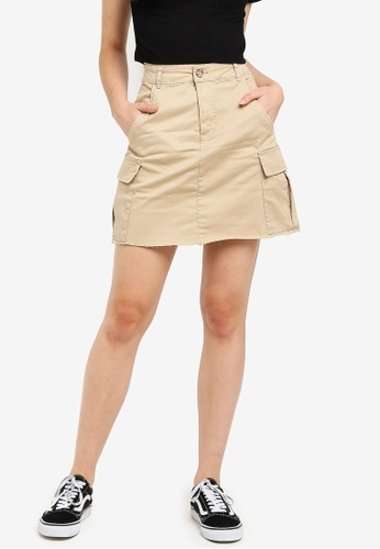 7183ce1ca34854 Shop Cotton On Utility Cargo Mini Skirt Online on ZALORA Philippines