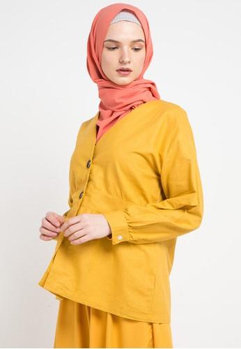 ZAHRA SIGNATURE yellow Blouse Linen Mirabell 05B22AA22D32E6GS_1