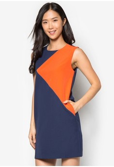 Collection Contrast Panelled Shift Dress