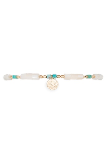 HIPANEMA white and multi and gold Ankle bracelet - Anklet Isiris White 9C076AC0BD2DCCGS_1