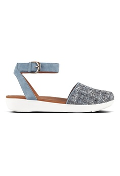 af7d886898bf Fitflop blue Fitflop Cova Closed-Toe Sandals Tweed (Dove Blue)  5AA6DSH7681A08GS 1